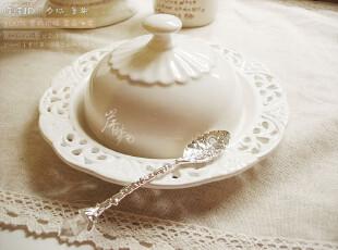 zakka欧式外贸陶瓷白色公主小资英式下午茶西点心盘蛋糕盘有盖盘,盘碟,