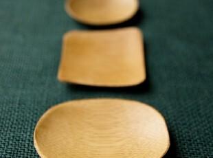 O2 氧气生活 天然环保餐具 竹子 楠竹日式餐具调味碟 三款可选,盘碟,