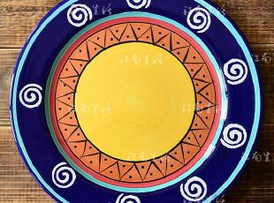 江南生活|手绘陶瓷|11寸盘子|西餐盘|挂盘|可做装饰盘 yw,盘碟,