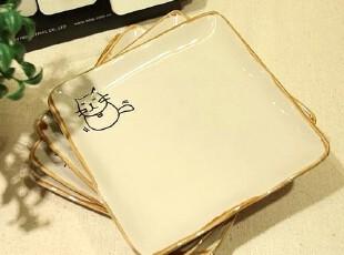 ‖XY时尚百货‖日式家居 小盘  瓷器餐具 方盘 盘子 21元1个,盘碟,