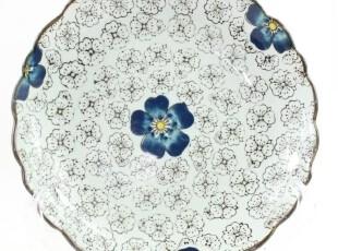 日式外贸陶瓷创意餐具 出口瓷器 盘子原单 菜盘 鱼盘子菊花盘,盘碟,