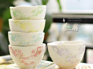 名品 Single day 温暖浪漫色 陶瓷大米饭碗 面碗 螺纹浪口碗,碗盆,
