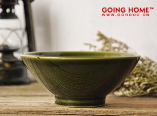 luzerne 墨绿 陶瓷 圆 碗 饭碗 (寂静的湖水),碗盆,