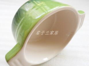 特价 外贸陶瓷 绿色渐变色 4寸双耳烤碗 零食碗 烘焙必备,碗盆,
