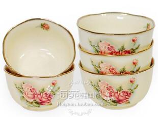 韩国进口正品 Queen Rose镀金玫瑰高档陶瓷碗 汤碗饭碗 单价,碗盆,