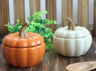 特价 盖碗 陶瓷 出口南瓜碗 烘焙碗 炖盅 甜汤碗 甜品盅碗 糖水盅,碗盆,