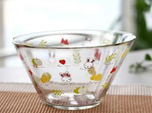 淘金币 韩国ILOUYOU 原单无铅优质玻璃碗 面碗 沙拉碗  甜点碗 冰,碗盆,