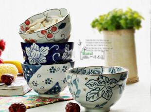 景德镇 手绘 陶瓷 面碗 大饭碗 陶瓷餐具 粥碗 4个包邮,碗盆,