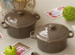 烤箱微波炉适用 烘焙模具 陶瓷餐具 小号 带盖 瓷器 碗 烤碗 奶锅,碗盆,