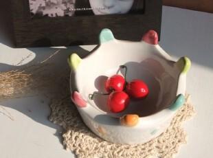 我的彩色皇冠 出口可爱陶瓷水果碗 零食碗 坚果碗 热销款 5寸,碗盆,