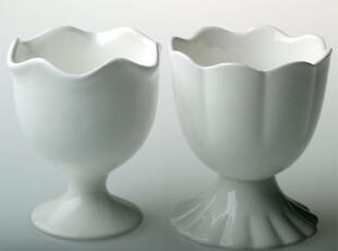 HYU 白色蔬菜碗 沙拉碗 陶瓷碗 花边碗 高脚碗 冰激凌碗 冷饮碗,碗盆,