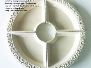 【有爱小铺】 zakka杂货 家居 复古做旧浮雕陶瓷碗 单个12.9元,碗盆,