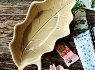 日式和风陶瓷餐具/法布尔叶形料理碗/小菜碟/沙拉碟,碗盆,