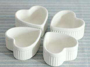 【爱味食器】心形舒芙蕾烤碗炖盅陶瓷餐具 190g  25号到货!,碗盆,