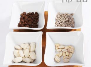 稀品独家 陶瓷四格拼装餐具套装 简约饭碗木制托盘零食盘糖果盘,碗盆,