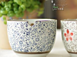 古色和风系列/特色带孔面碗/汤碗 面碗 釉下彩,碗盆,