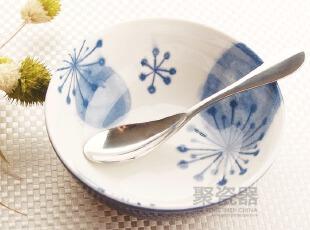 手绘风格 日式陶瓷碗 饭碗 汤碗 青花碗 出口陶瓷碗 餐具碗,碗盆,