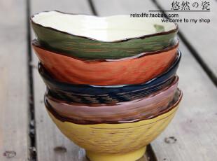 特价个性韩式五彩碗 贝壳碗 陶瓷碗 米饭碗 景德镇陶瓷 日式餐具,碗盆,