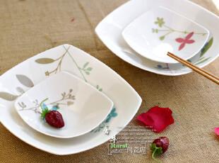 Givenchy品牌 陶瓷小碗 陶瓷大汤盘子 /沙拉碗 /四方零食碗 /两个,碗盆,
