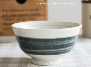 餐具 碗 日式米饭碗 蓝白碗,碗盆,