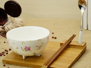 千顺 创意陶瓷碗 骨瓷碗 带勺子筷子 骨瓷碗 韩日风格 多款选择,碗盆,