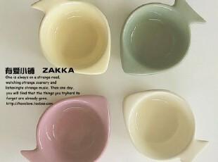 【有爱小铺】 zakka杂货 家居 出口鱼形陶瓷小碗,碗盆,