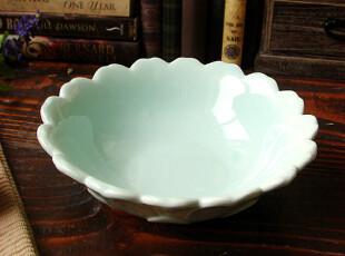 【A grass】外贸陶瓷出口餐具清雅蓝色花朵汤碗\餐碗!,碗盆,
