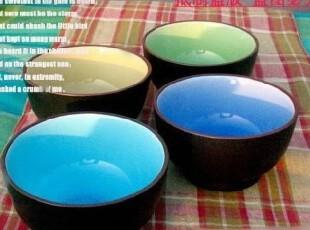 日式和风系列 陶瓷餐具 陶瓷碗米饭碗 多彩惊艳冰裂釉,碗盆,