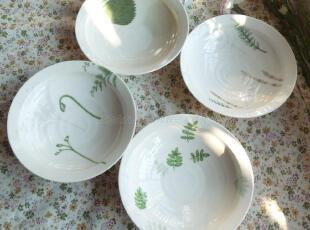景德镇 日单陶瓷餐具 大内顺子 中号螺纹平边 盘 菜碗 浅碗 五款,碗盆,