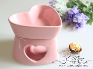 粉色巧克力火锅 桃心碗可以单独烤甜品哦~烘焙陶瓷 酒店餐具,碗盆,