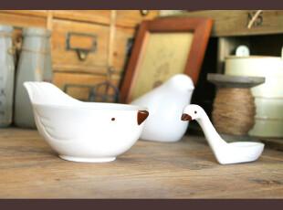 ZAKKA日韩可爱卡通小鸟陶瓷沙拉汤饭碗 限时包邮,碗盆,