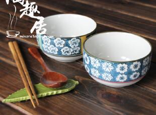 【微瑕特价】韩式陶瓷米饭碗/汤碗/粥碗 两款 出口尾货,碗盆,