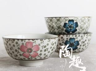 【微瑕特价】韩式陶瓷米饭碗/粥碗/汤碗 三款 出口尾货,碗盆,