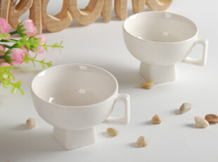 陶瓷餐具 新骨瓷餐具 单耳冰淇淋碗 陶瓷碗 饭碗 汤碗,碗盆,
