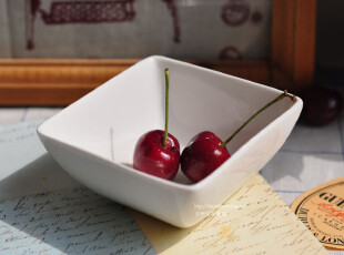 Bao ZAKKA 日单 纯白 四方小碗,碗盆,