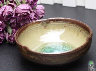 日本进口陶瓷餐具冰裂玻璃釉创意瓷碗手工碗汤碗泡面碗面碗大碗,碗盆,