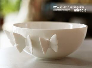米诺奇 0705蝶恋碗 汤碗 装饰碗 家居饰品 样板间 面碗 礼品,碗盆,