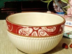 美克美家风格/法式乡村浮雕陶瓷餐具/蔓藤花调料碗/米饭碗/沙拉碗,碗盆,