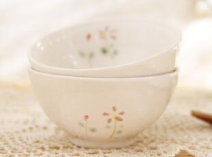 日式和风饭碗 手绘 小清新碗 餐具 陶瓷饭碗 日本 杂货 zakka,碗盆,
