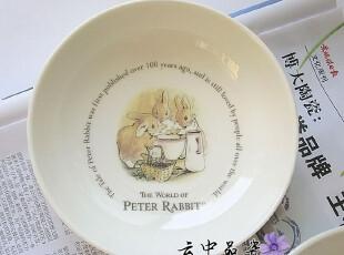 陶瓷餐具日式骨瓷出口原单彼得兔之家细纹窝窝小碟子/盘/碗,碗盆,