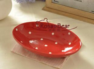 椭圆水玉深餐盘 家居陶瓷 外贸 出口,碗盆,