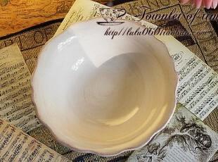 满150包邮 丝滑奶白 复古做旧 碗 外贸陶瓷,碗盆,