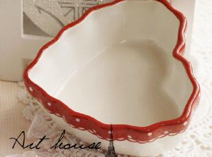 出口欧洲cath kidson风格水玉心型陶瓷收纳盆 可爱桃心形摆件,碗盆,