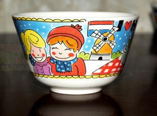 blond微疵|碗|面条碗|饭碗|手绘陶瓷餐具|外贸出口|原单尾货,碗盆,