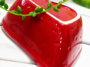 【皇冠】Edible限量草莓碗 餐具 手绘陶瓷 零食碗沙拉碗 尾单,碗盆,