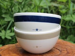 【A grass】外贸陶瓷LEX1993简约款餐碗、沙拉碗、零食碗-2色可选,碗盆,