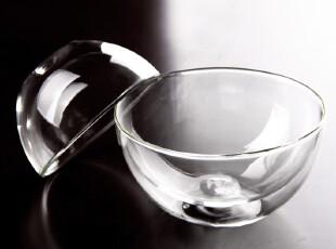 双层耐热 玻璃沙拉碗,碗盆,