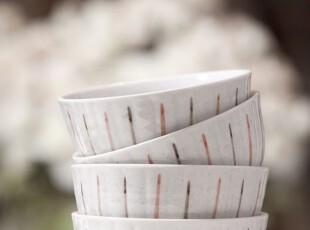 【3米家】特价!外贸尾单陶瓷彩条小碗,碗盆,