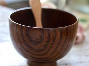 出口日本原单儿童木纹碗/冰碗/甜品碗,碗盆,