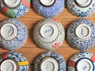 千度悠品 日式 和风 陶瓷 餐具 碗 小碗 饭碗 小脚碗集结号,碗盆,